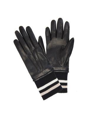 LANVIN LAMBSKIN RIBBED GLOVES Gloves D f