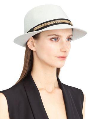 FELT AND CHAIN HAT