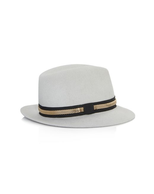 lanvin felt and chain hat women