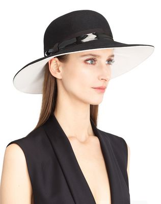 TWO-TONED HAT