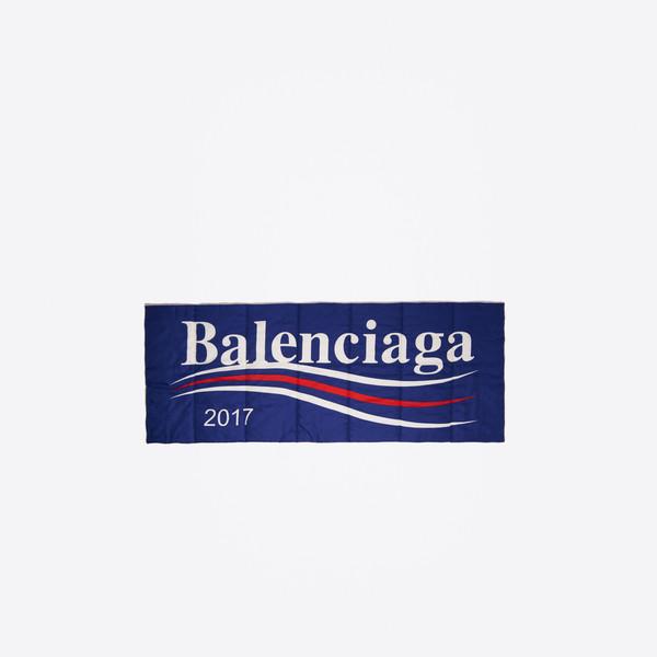 Wattierter Schal Balenciaga 2017