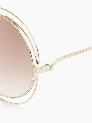 Carlina pink sunglasses with chain jewel