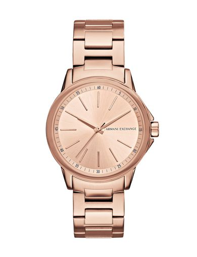 MINIMAL FACE ROSE GOLD-TONE BRACELET WATCH