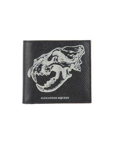 ALEXANDER MCQUEEN メンズ 財布 ブラック 革