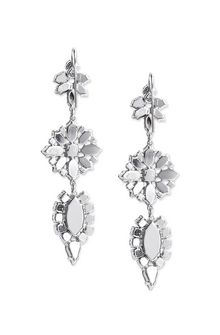 ALBERTA FERRETTI BLOOM CRYSTAL EARRINGS Earrings D d