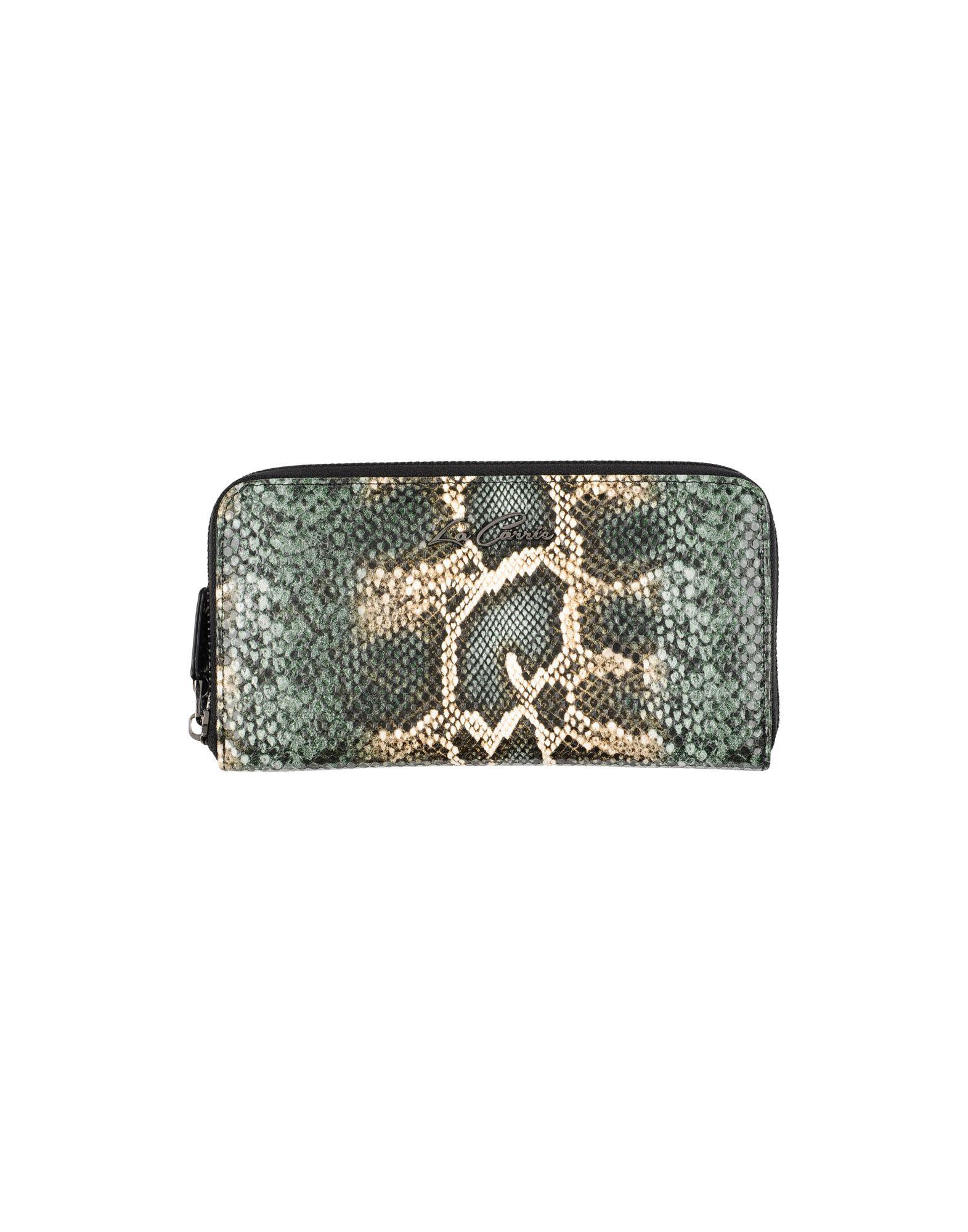 LA CARRIE BAG Damen Brieftasche Farbe Dunkelgrün Größe 1