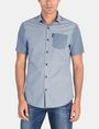 ARMANI EXCHANGE MIXED PRINT SHORT SLEEVE SHIRT Short sleeve shirt Man f