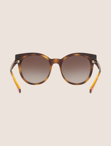 TORTOISE DIPPED WINGED SUNGLASSES