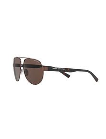 ARMANI EXCHANGE TORTOISE MODERN AVIATOR SUNGLASSES Sunglass Man e