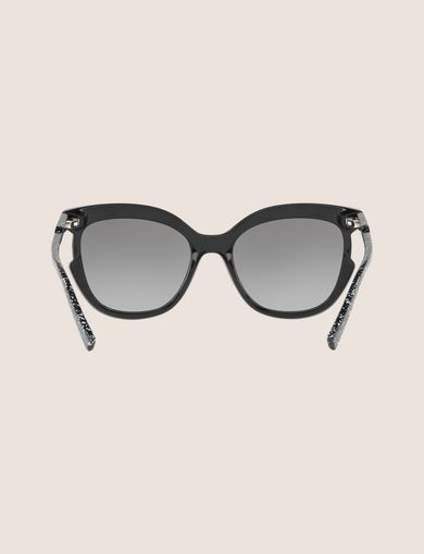 SPECKLED CUTOUT CAT-EYE SUNGLASSES