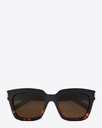 SAINT LAURENT BOLD D Bold 1 sunglasses in black and Havana red acetate frames with smoked lenses f