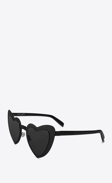 SAINT LAURENT NEW WAVE Woman New Wave SL 196 Loulou sunglasses in black acetate frames with gray lenses b_V4