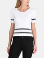 ARMANI EXCHANGE SHORT SLEEVE STITCHED STRIPE SWEATER Pullover Woman f