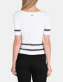ARMANI EXCHANGE SHORT SLEEVE STITCHED STRIPE SWEATER Pullover Woman r