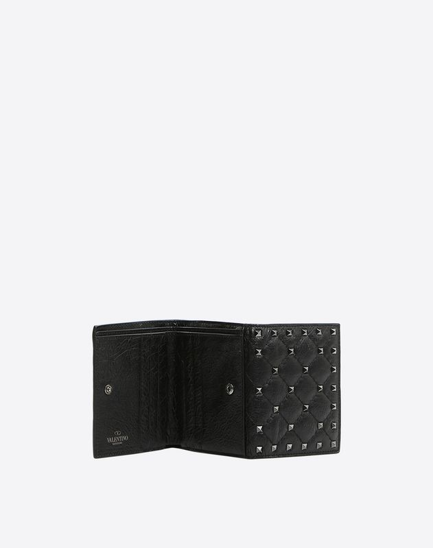 Portefeuille compact Rockstud Spike
