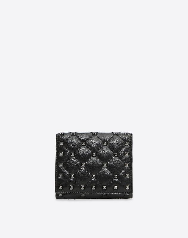 39a456aec0 Rockstud Spike Compact Wallet for Woman | Valentino Online Boutique