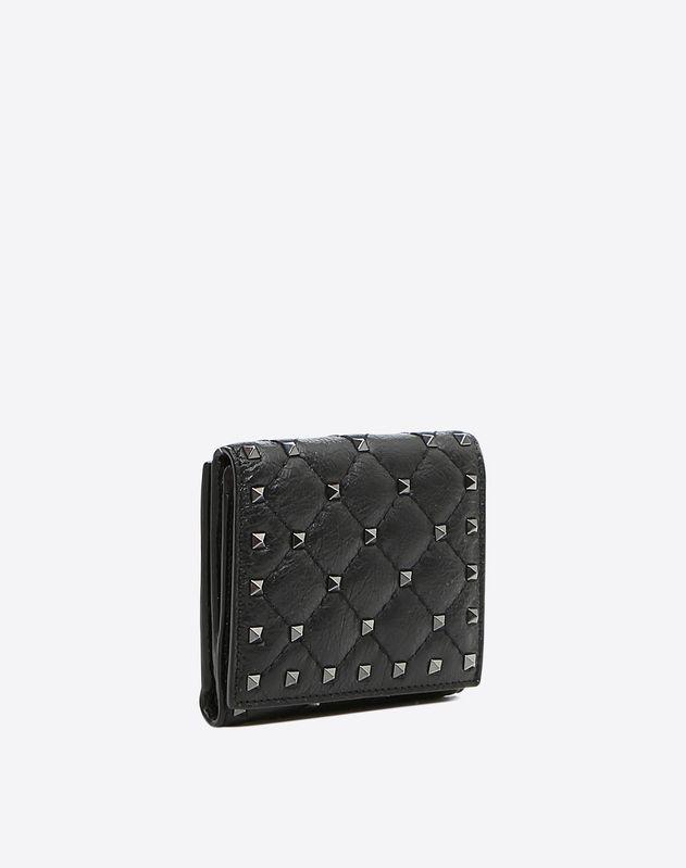 Rockstud Spike Compact Flap Wallet