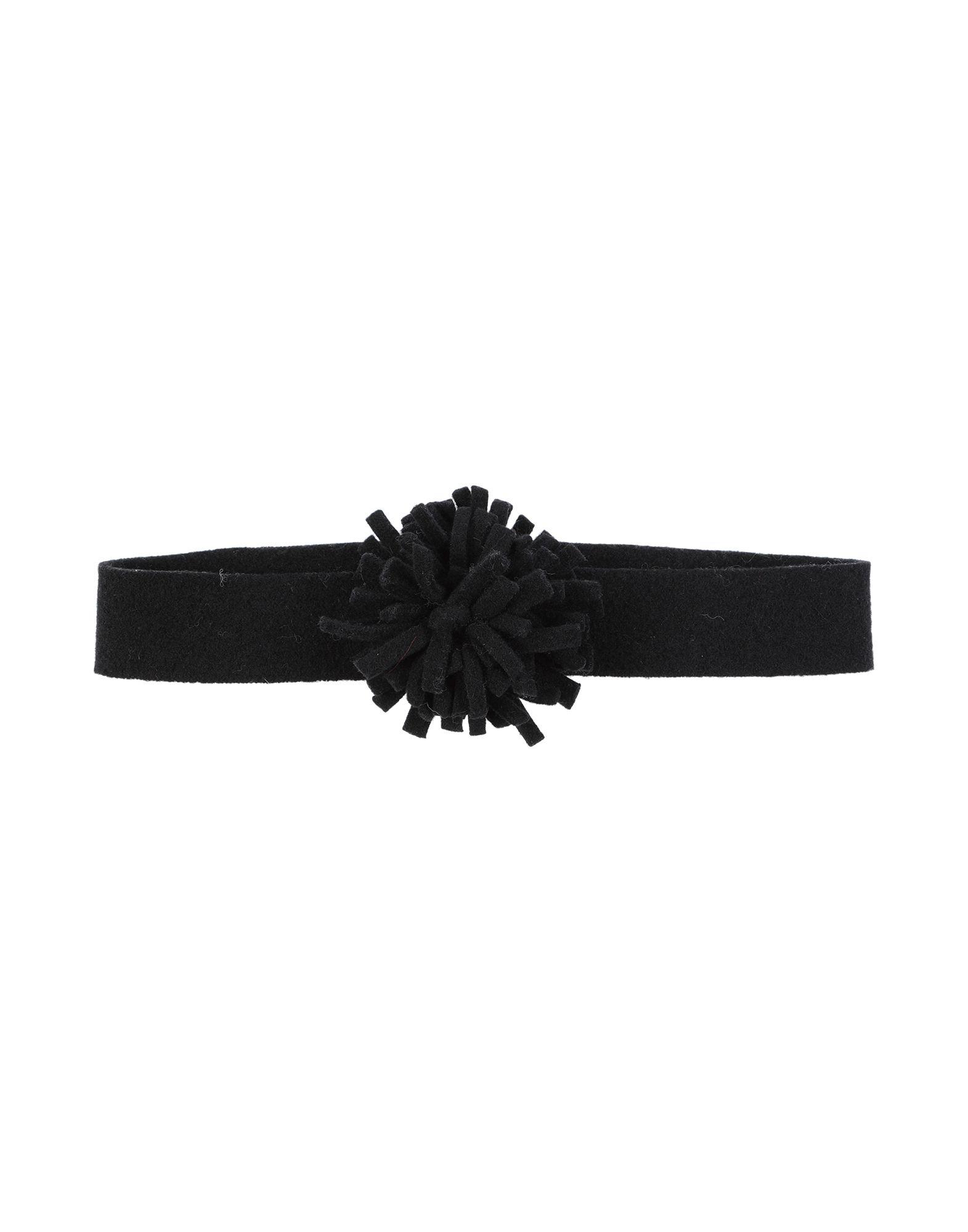 《送料無料》SCHA レディース ヘアアクセサリー ブラック 紡績繊維