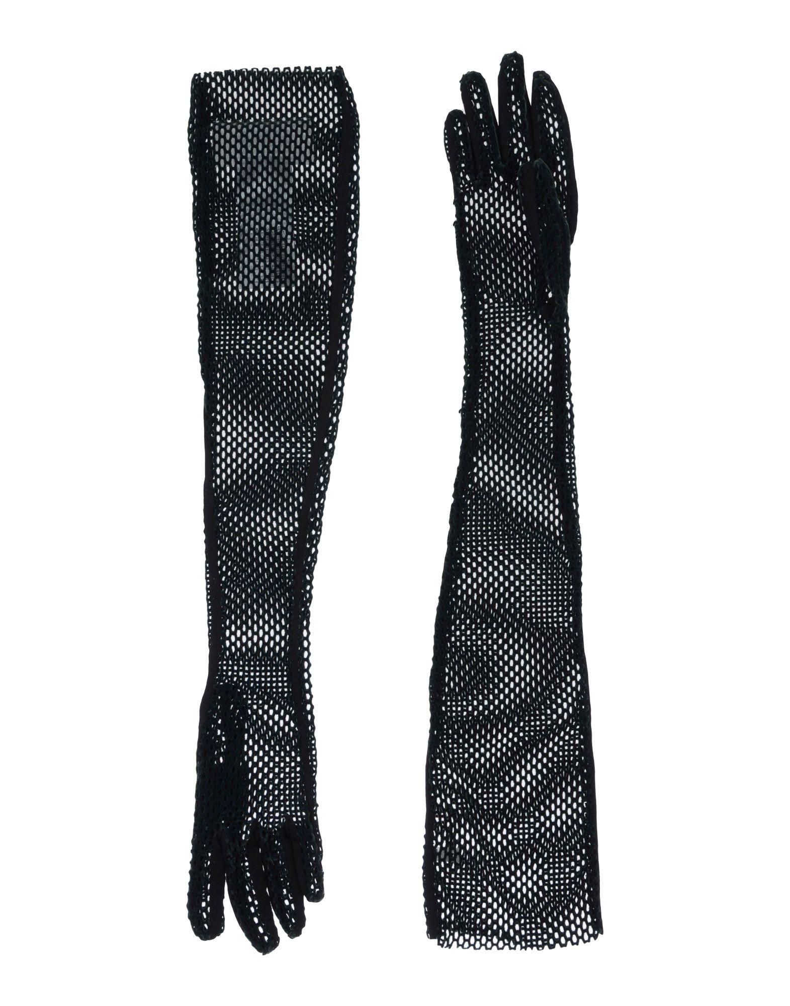 MM6 MAISON MARGIELA Damen Handschuhe Farbe Dunkelgrün Größe 5