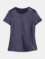 ARMANI EXCHANGE FAUX LEATHER ZIP-SHOULDER TEE S/S Knit Top Woman b