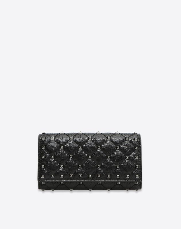 Rockstud Spike Continental Flap Wallet