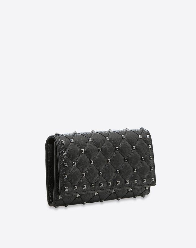Rockstud Spike Continental Flap Wallet