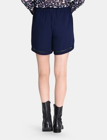 ARMANI EXCHANGE HIGH-RISE EYELET PULL-ON SHORTS Shorts Woman r