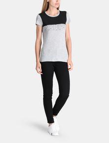 ARMANI EXCHANGE CONTRAST YOKE A|X TEE Logo T-shirt Woman a