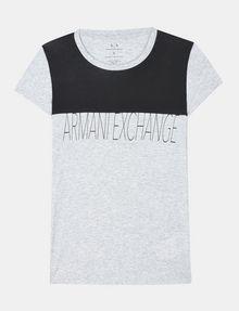 ARMANI EXCHANGE CONTRAST YOKE A|X TEE Logo T-shirt Woman b