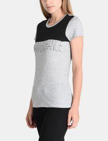 ARMANI EXCHANGE CONTRAST YOKE A|X TEE Logo T-shirt Woman d