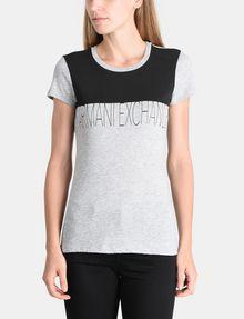 ARMANI EXCHANGE CONTRAST YOKE A|X TEE Logo T-shirt Woman f