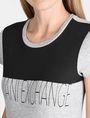 ARMANI EXCHANGE CONTRAST YOKE A|X TEE Logo T-shirt Woman e
