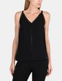 ARMANI EXCHANGE EYELET DETAIL V-NECK TANK S/L Woven Top Woman f
