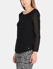 ARMANI EXCHANGE EYELET TRIM LONG SLEEVE TEE L/S Stricktop Damen d