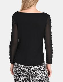 ARMANI EXCHANGE EYELET TRIM LONG SLEEVE TEE L/S Stricktop Damen r