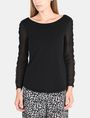 ARMANI EXCHANGE EYELET TRIM LONG SLEEVE TEE L/S Stricktop Damen f