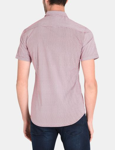 SQUARE GRID-DOT SHORT SLEEVE SHIRT