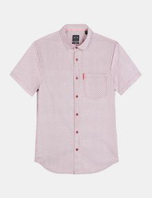 ARMANI EXCHANGE SQUARE GRID-DOT SHORT SLEEVE SHIRT Short sleeve shirt Man b