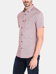ARMANI EXCHANGE SQUARE GRID-DOT SHORT SLEEVE SHIRT Short sleeve shirt Man d