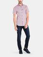 ARMANI EXCHANGE SQUARE GRID-DOT SHORT SLEEVE SHIRT Short sleeve shirt Man a