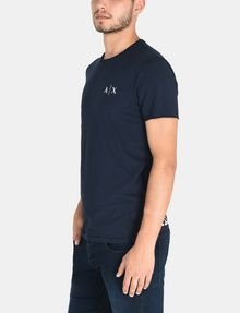 ARMANI EXCHANGE SERIF-BACK LOGO T-SHIRT Logo T-shirt Man d