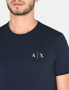 ARMANI EXCHANGE SERIF-BACK LOGO T-SHIRT Logo T-shirt Man e