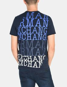 ARMANI EXCHANGE SERIF-BACK LOGO T-SHIRT Logo T-shirt Man r