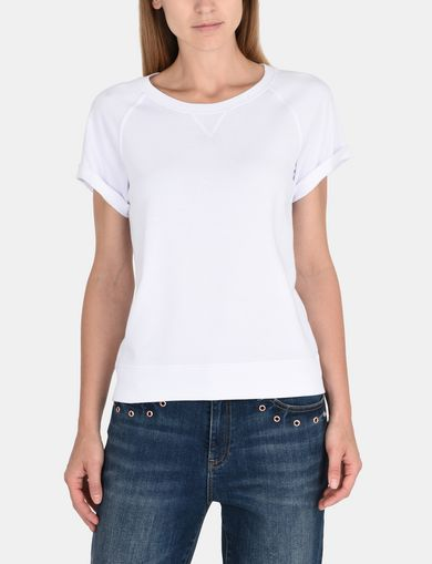 ROLLED SLEEVE BACK LOGO TOP