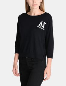 ARMANI EXCHANGE STENCIL LOGO SWEATER Pullover Woman f