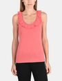 ARMANI EXCHANGE RUFFLE TRIM RACERBACK TANK S/L Knit Top Woman f