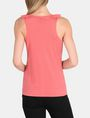 ARMANI EXCHANGE RUFFLE TRIM RACERBACK TANK S/L Knit Top Woman r