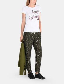 ARMANI EXCHANGE MULTI SEQUIN SCRIPT TEE Logo-T-Shirt Damen a