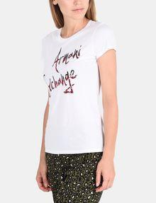 ARMANI EXCHANGE MULTI SEQUIN SCRIPT TEE Logo-T-Shirt Damen d