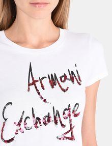 ARMANI EXCHANGE MULTI SEQUIN SCRIPT TEE Logo-T-Shirt Damen e